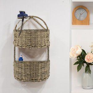 2-tier Semi-Circle Wall Hanging Storage Basket